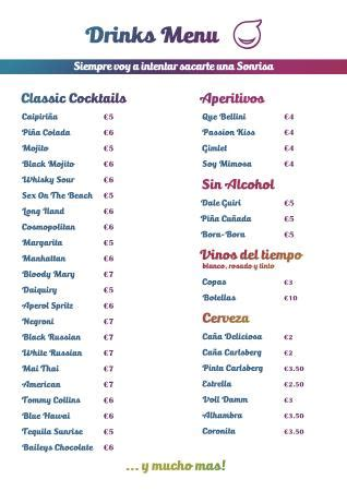 To Market Recap Cocktail Menu by Bambolino Cocktail Bar Barcelona španělsko Recenze