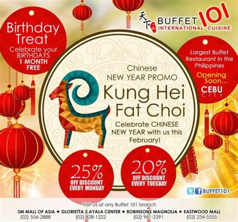 new year food promotion 2015 buffet 101 new year promo 25 every monday