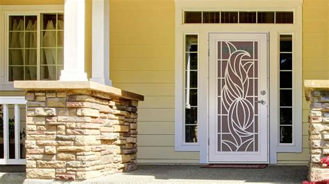unique home designs security screen doors kerala home
