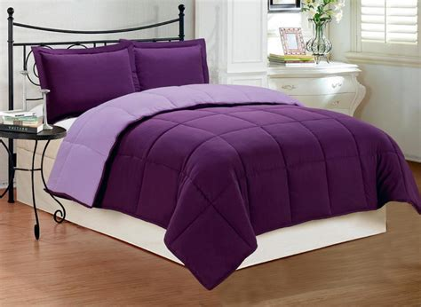 king size purple comforter sets 3 pc new down alternative reversible comforter set cal