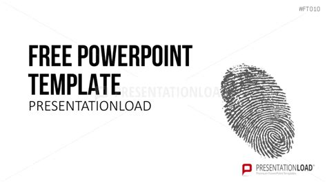 fingerprint template presentationload free powerpoint template fingerprint