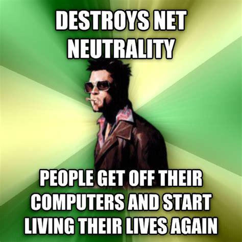Tyler Durden Meme - net neutrality meme a thon attack on isp odd nugget