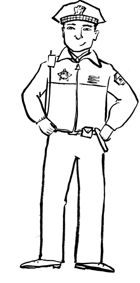 Free Printable Policeman Coloring Pages For Kids Coloring Pages Of Officers