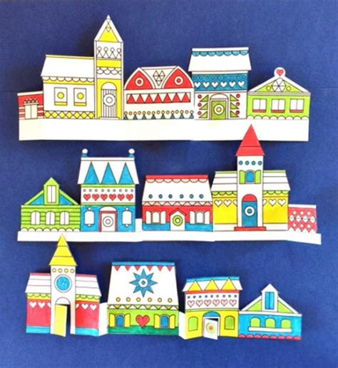 Paper Craft Store - paper craft color in towns templates