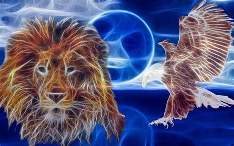 imagenes de aguilas y leones lion and eagle wallpaper by bobhertley on deviantart