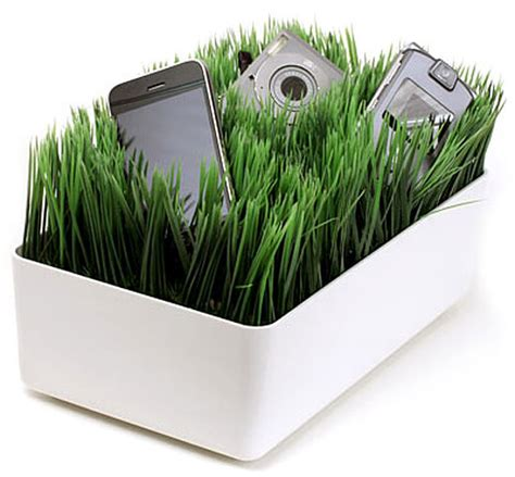 lawn care gadgets grassy lawn charging station keeps your gadgets juiced up