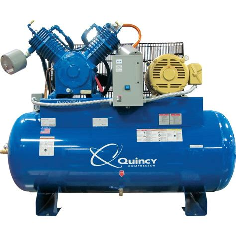 free shipping quincy qt 15 splash lubricated air compressor with max package 15 hp 230 volt