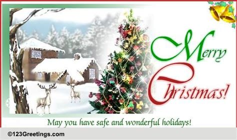 safe christmas holiday  merry christmas wishes ecards