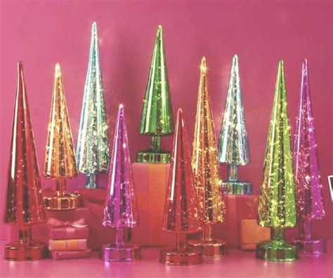 Lighted Mercury Glass Trees Holiday Gift Guide 2013 Glass Lighted Tree