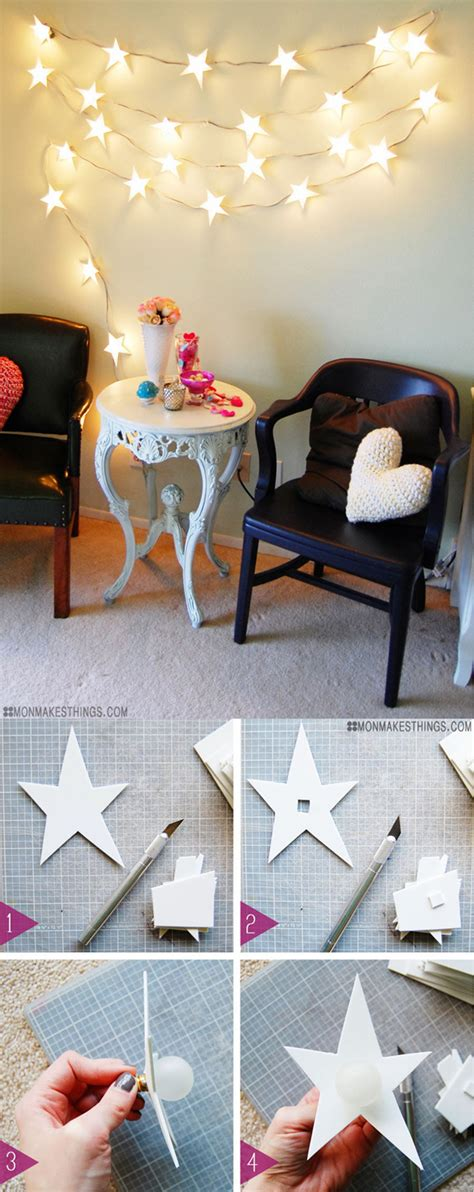 How To Decorate A Small House With No Money 33 awesome diy string light ideas diy projects for teens