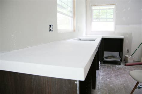 Kitchen Cabinet Height diy white concrete countertops chris loves julia