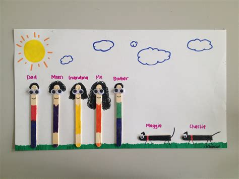 family craft for popsicle stick family craft family reunion