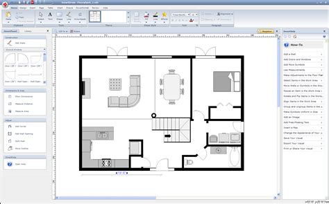 software draw floor plan smartdraw 2010 software review and rating home