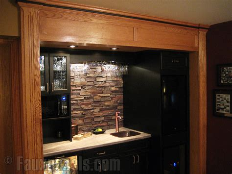 faux stone kitchen backsplash easy diy backsplashes in the kitchen creative faux panels