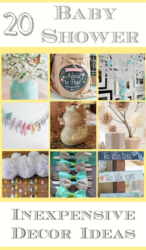 Cheap Baby Shower Items by 20 Cheap Baby Shower Decor Ideas Many Items Can Be Found