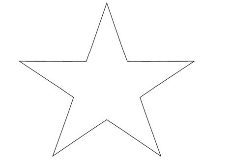 Printable Paper Star Template | best photos of template of stars large star template