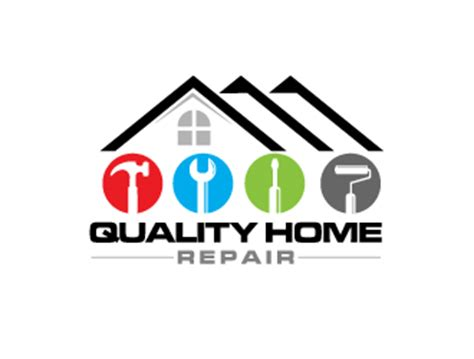 quality home repair logo design 48hourslogo