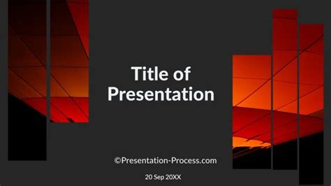 ppt title slide template flat design templates powerpoint title slide