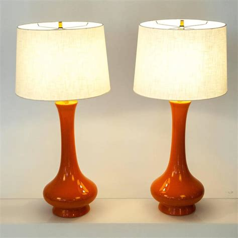 orange ceramic table l vintage orange ceramic ls for sale at 1stdibs