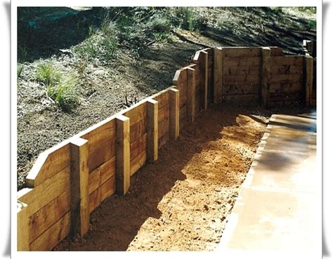 Diy Retaining Wall Sleepers by How To Build A Wall All You Need To Before You Start