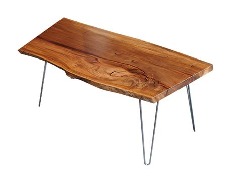 hairpin coffee table in madrone the joinery portland