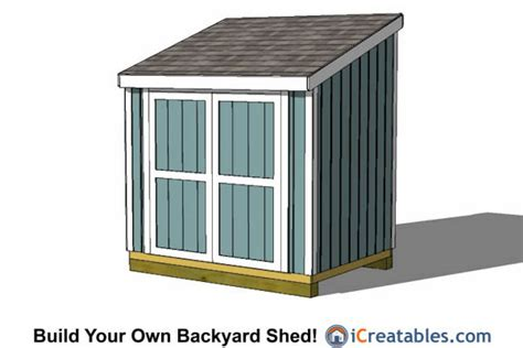 6 X 8 Shed Plans by 6x8 Shed Plans 6x8 Storage Shed Plans Icreatables