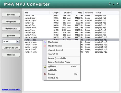 mp3 conv screen shots m4a mp3 converter
