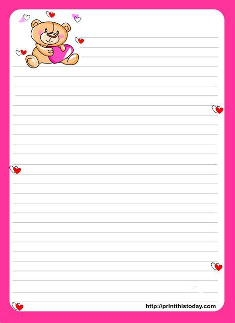 cute paper write letters notebook paper template