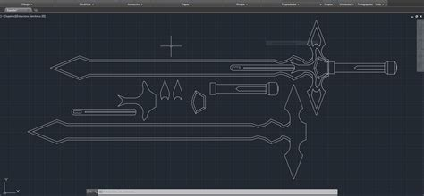 how to make a blueprint online sao cosplay dark repulser sword template by virusvicio
