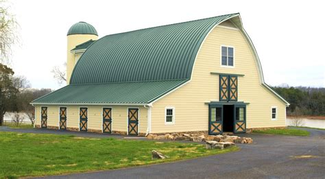 arch shed arch barn with curved standing seam metal roof