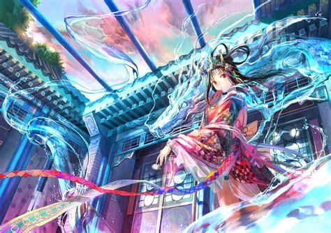 wallpaper anime konachan wallpaper dragon fuji choko randomness thing