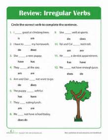 grammar time irregular verbs worksheet education