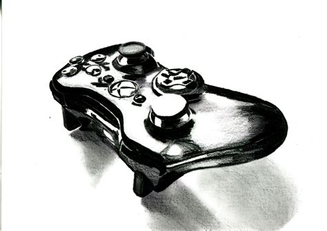Drawing Xbox Controller by Pencil Drawings Peem Anakakul Page 2