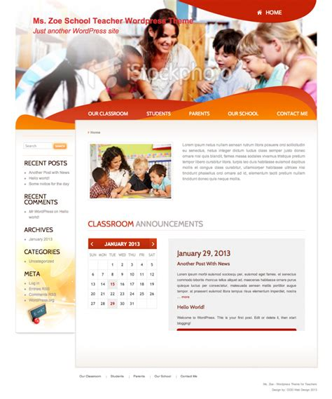 wordpress theme orion free download a free wordpress theme for school teachers