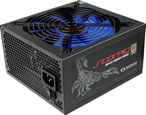 Psu Raidmax 450w 80plus raidmax scorpio series 735w 80 plus bronze atx12v v2 3 and eps12v power supply rx 735ap s buy