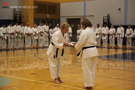 what is the highest rank achieved by a cancer survivor earns karate black belt at 72 toronto