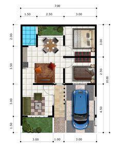 denah rumah sederhana 6x12 meter kpr minimalis ornamen denah rumah sederhana 6x12 meter kpr minimalis ornamen