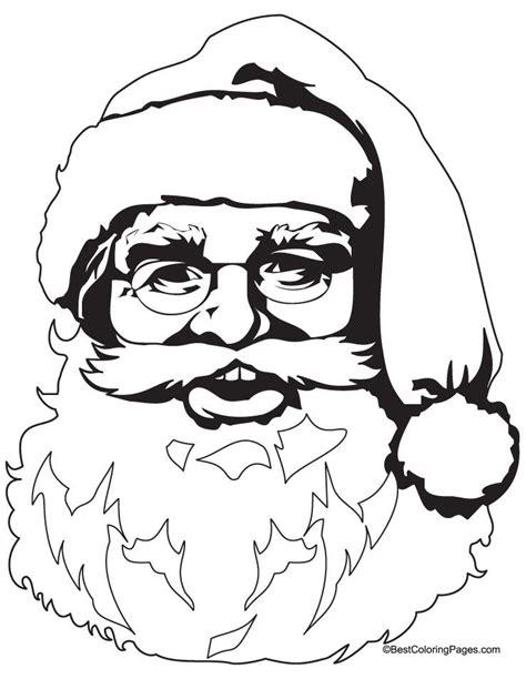 coloring pages of santa claus santa claus face coloring pages coloring home