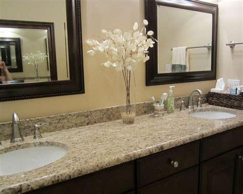 upstairs guest bathroom giallo ornamental granite wdark