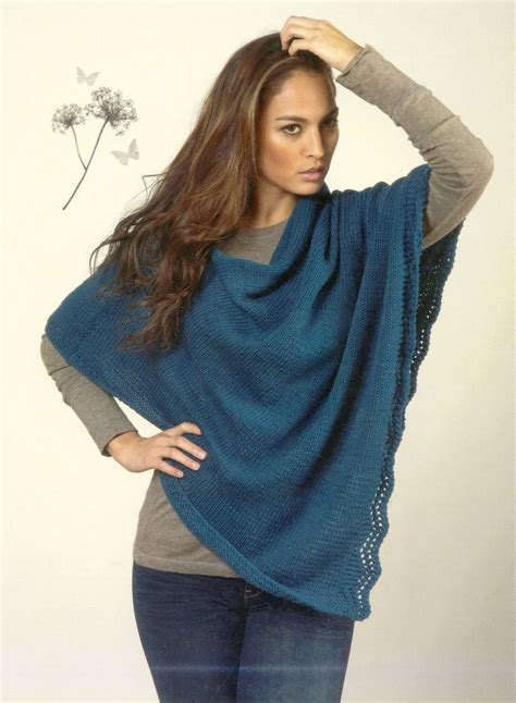 knitting patterns womens poncho s poncho knitting pattern halcyon yarn