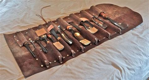 penelope nicholls handmade leather tool roll for