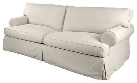 Tailored Slipcovers Liverpool Tailored Slipcover 89 Quot Sofa Sand Style