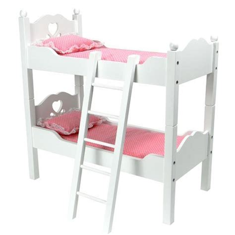 Bunk Beds Separate S Sf Cbbw 18 Inch Doll Furniture Bunk Bed In White Cutout Design Ladder 2 Doll
