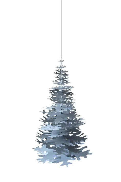 large paper christmas tree nordic fir tree 3d kit blue large fabulous goose scandinavian interior design products to a