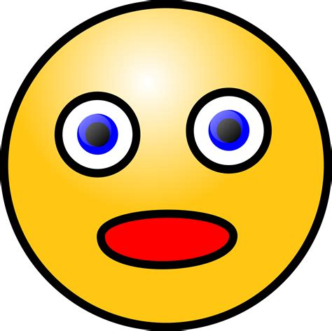 smiley clipart amazed cliparts