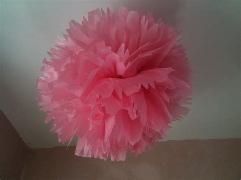 Paper Pom Poms - how to make tissue paper pom poms thoughtfully simple