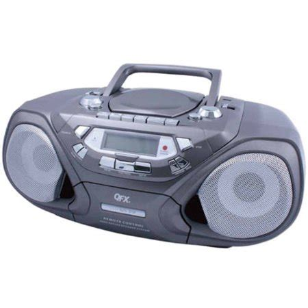 cassette player portable qfx am fm portable radio cassette player black walmart