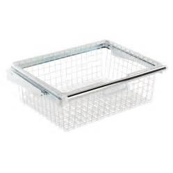 shop rubbermaid homefree series white wire sliding basket