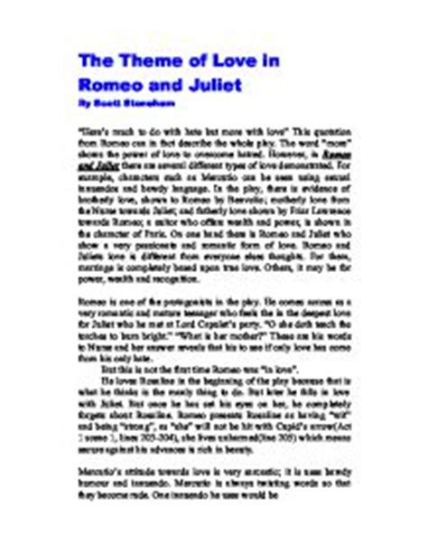 themes of romeo and juliet gcse the theme of love in romeo and juliet gcse english