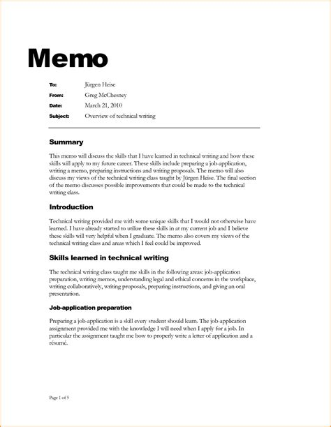 How To Write Business Letter And Memo memo exle mado sahkotupakka co